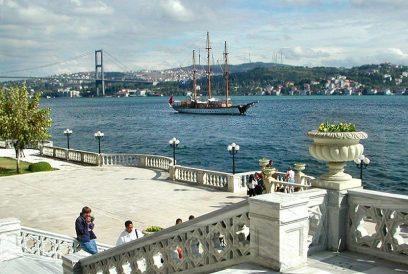 De Bosporus als grens tussen Azië en Europa