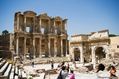 De bibliotheek van Celsus (114 en 125 n. Chr.) (Romeinen)