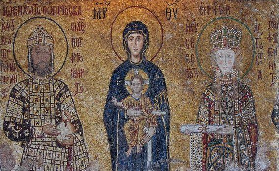Mozaik in de Ayasofya Moskee