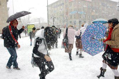 In Erzurum kan ook veel sneeuw vallen