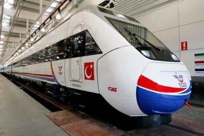 De eerste HSL trein in Turkije (250km/u)