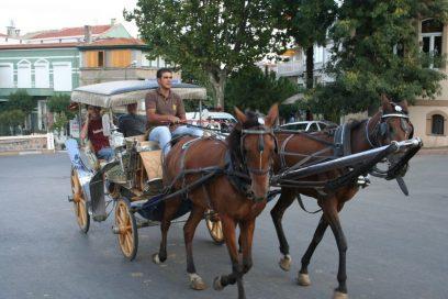 De koets als een taxi in Buyukada Istanbul door colm.mcmullan