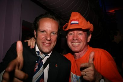 Daniel Stork (links) en Marc Guillet Queens Day 2010 Istanbul