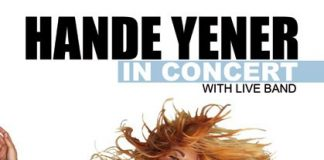 Hande Yener in concert with live band (Amsterdam)