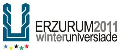 Het logo van de Universiade in Erzurum
