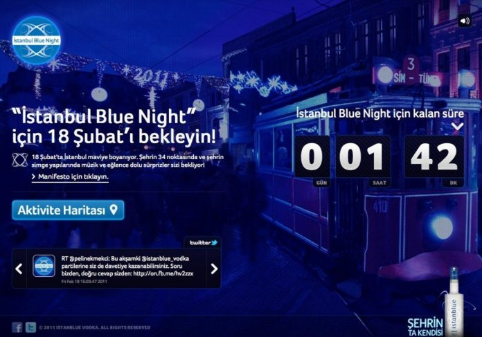 Vanavond Istanbul Blue Night party