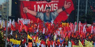 Dag van de Arbeid groots gevierd in Istanbul Taksim
