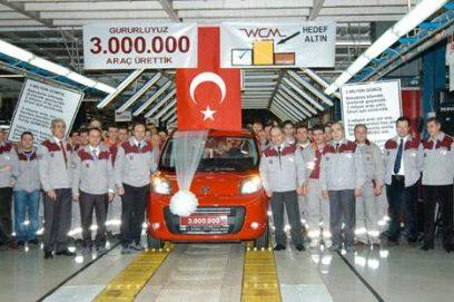 Turkse Fiat fabriek waar al 3.000.000 auto's geproduceerd zijn