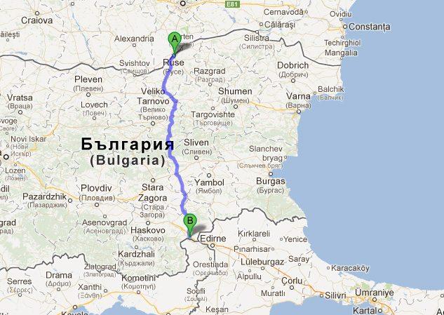 Nieuwe Ruse-Svilengrad snelweg tussen Roemenie en Turkije
