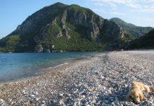 Strand van Çıralı naar Olympos (Wikimedia)