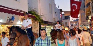 bodrum politie te paard turkije