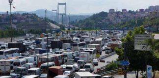 Maatregelen tegen enorme drukte op Fatih Sultan Mehmet Brug