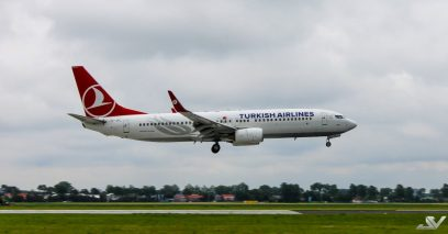 Turkish Airlines Boeing 737-8F2 op Schiphol (Jur Visser)